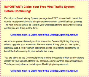 secret money system traffic software
