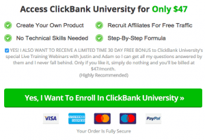 ClickBank University Pricing