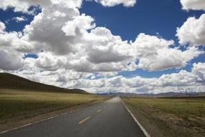 a long desert road