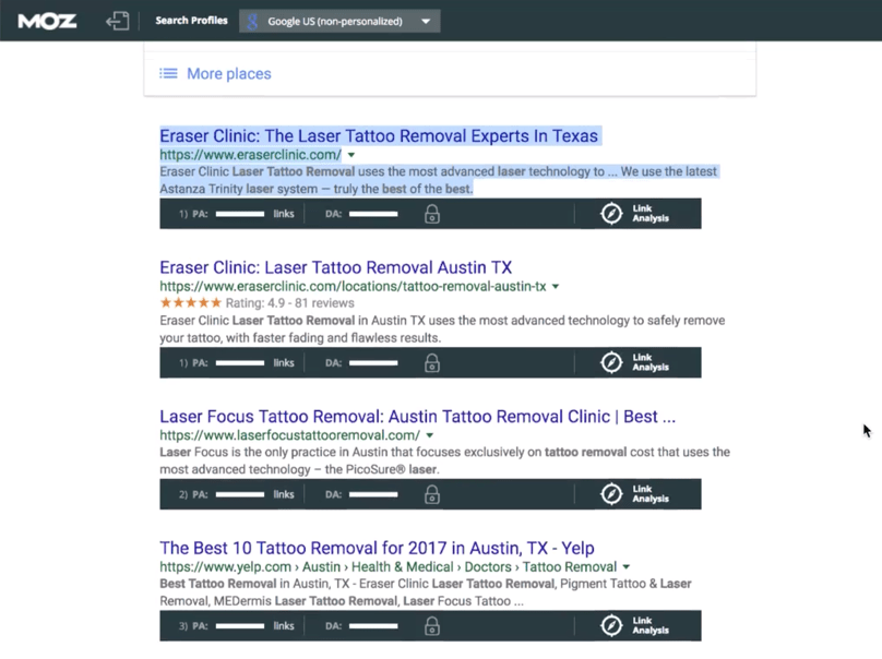 Google Search Results Page LocalGoogle Search Results Page Local