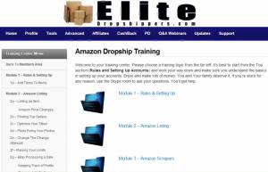 The Elite Dropshippers members' area