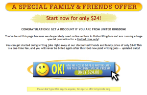 Special offer at Real Writing JObs