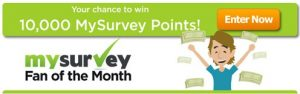 "An old MySurvey banner for ""fan of the month"""