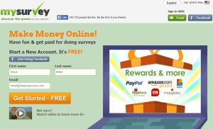 MySurvey's website homepage