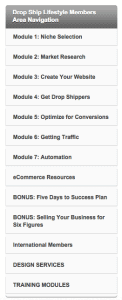Drop Ship Lifestyle navigation menu