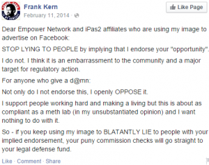 Frank Kern hates iPAS
