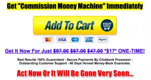 Commission Money Machine savings?
