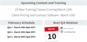 Schedule for New Content
