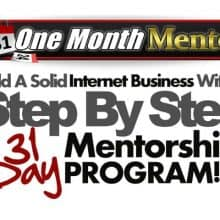 one month mentor review