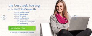 Bluehost's welcome banner