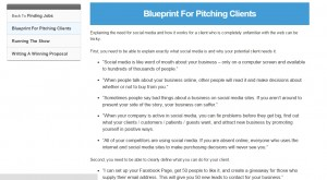 Blueprint for pitching clients