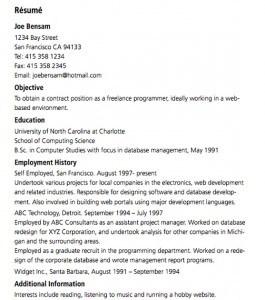 Dud resume