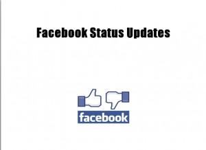 Facebook status update a