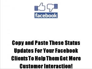 Facebook status update b
