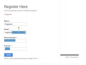 Free consultation registration