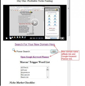 New domian name affiliate link and Google keyword planner link