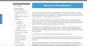 Training module 1a