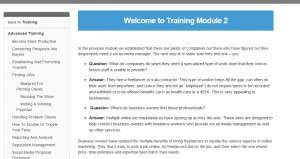 Training module 2a
