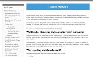 Training module 3a