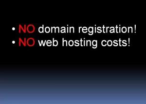 No domain registration no webhosting
