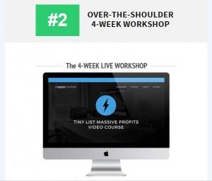 Over the shoulder 4 week workshop