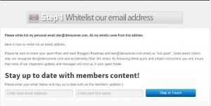 Whitelist email