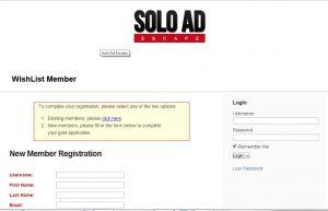 WishList membership registration