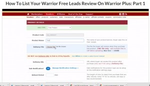 How To List Your Warrior Free Leads Review On Warrior Plus Part 1