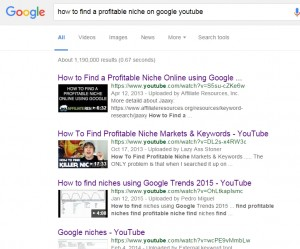 How to find a profitable niche on google youtube
