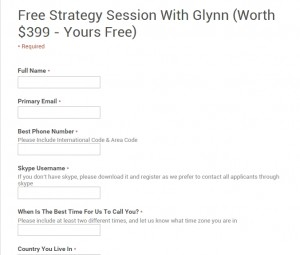 The free strategy web form