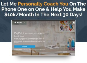 A coaching offer upsell