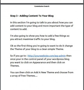 Add content to your blog