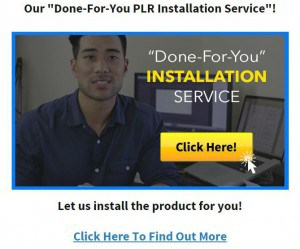 Done for you installation service