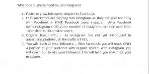 Easier to grow follower than facebook