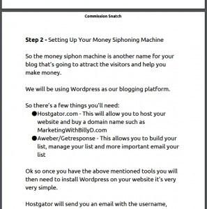 Set up the money siphon machine