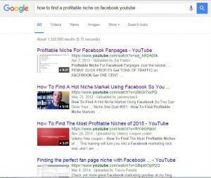How to find a niche on facebook google
