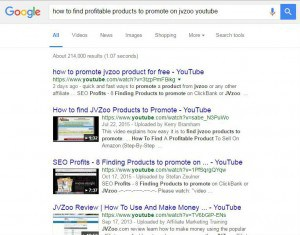 How to find products to promote on jvzoo google
