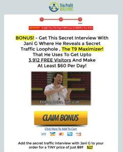 Bonus upsell