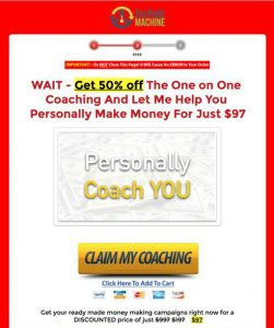Coaching down sell