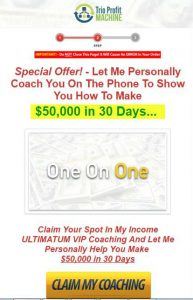 Coaching upsell