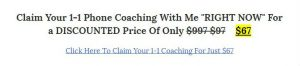 Cost of coaching down sell