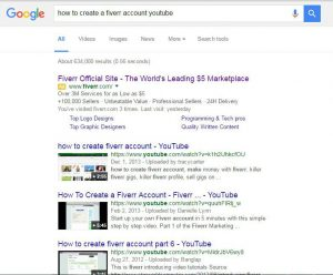 How to create a fiverr account google