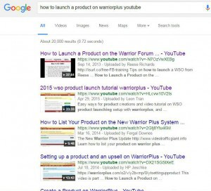 How to launch a product on warriorplus google