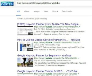 How to use keyword planner google