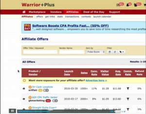 WarriorPlus product launch calendar