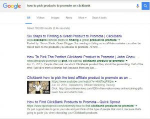Clickbank google
