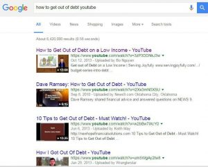 How to get out of debt youtube