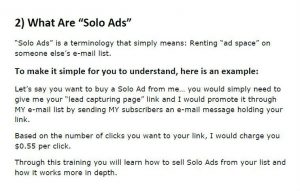Solo ads definition