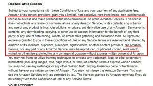 Amazon's TOS