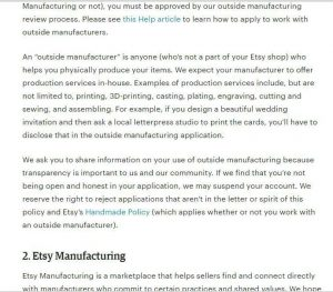 Etsy's policies